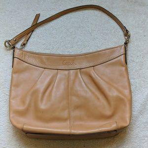 Coach Pleated Leather Hobo Bag